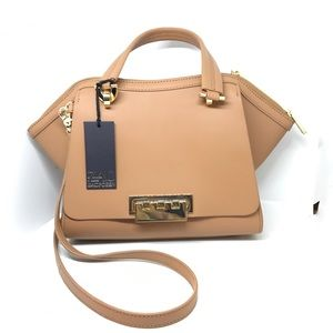 NWT Zac Posen camel tan nude eartha shoulder bag